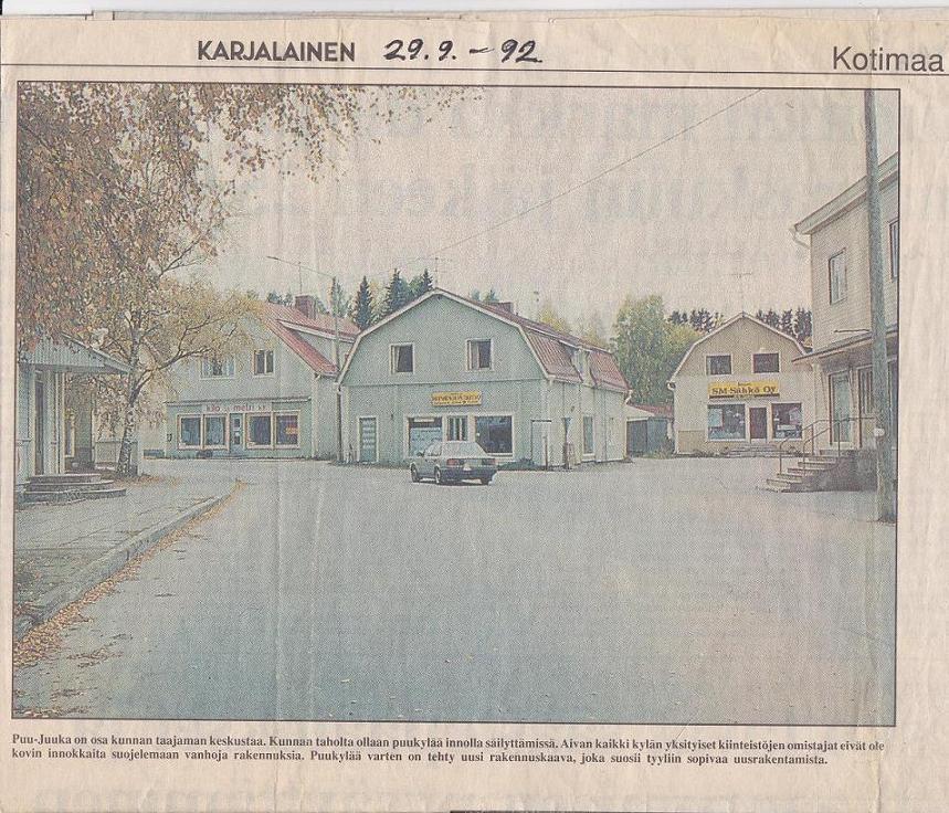 Vikilän talot vielä käytössä 1992