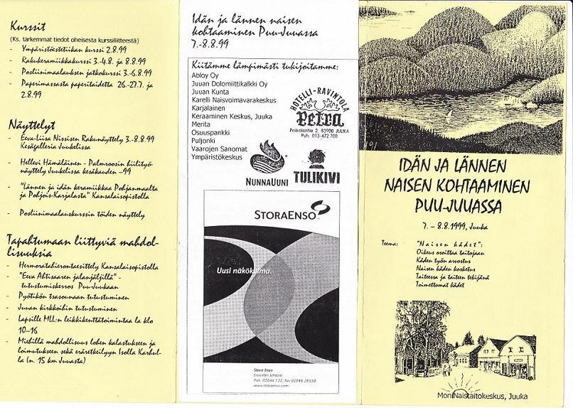 Idän ja lännen naisen kohtaaminen Puu-Juuassa 7-8.8.1999