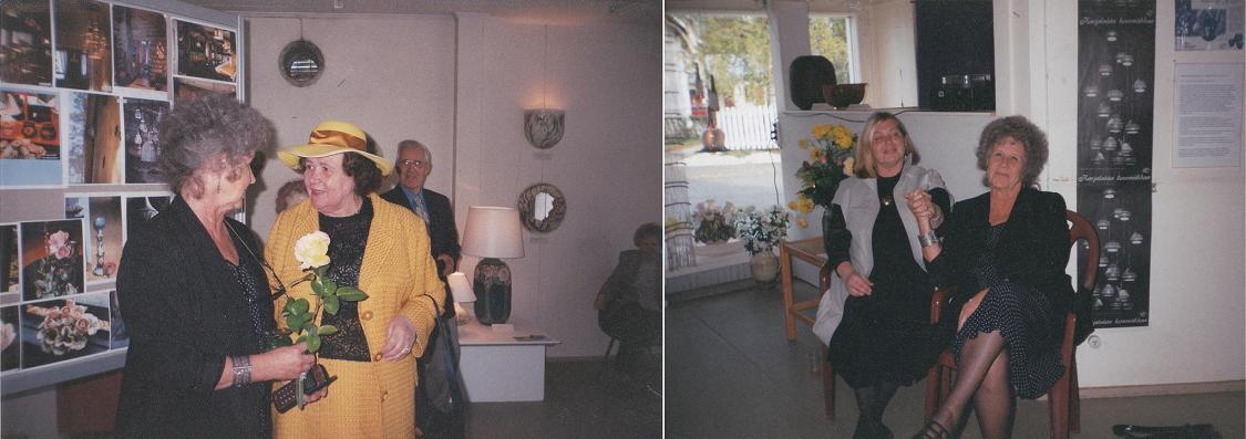 Iloisia Sinikanpäivien vieraita kävi monia kymmeniä.