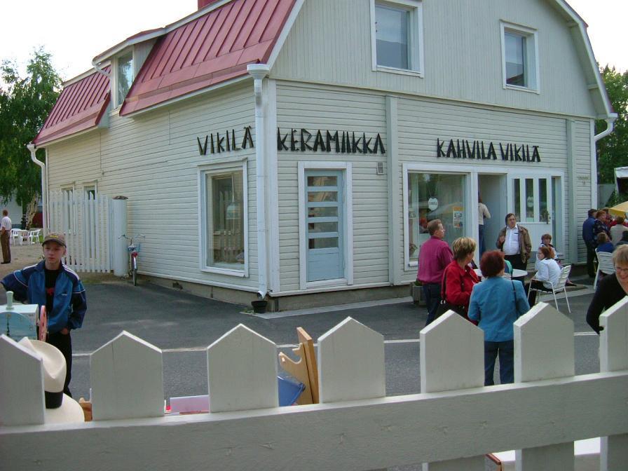 Sinikan näyttelyalkovi kahvila Vikilässä
