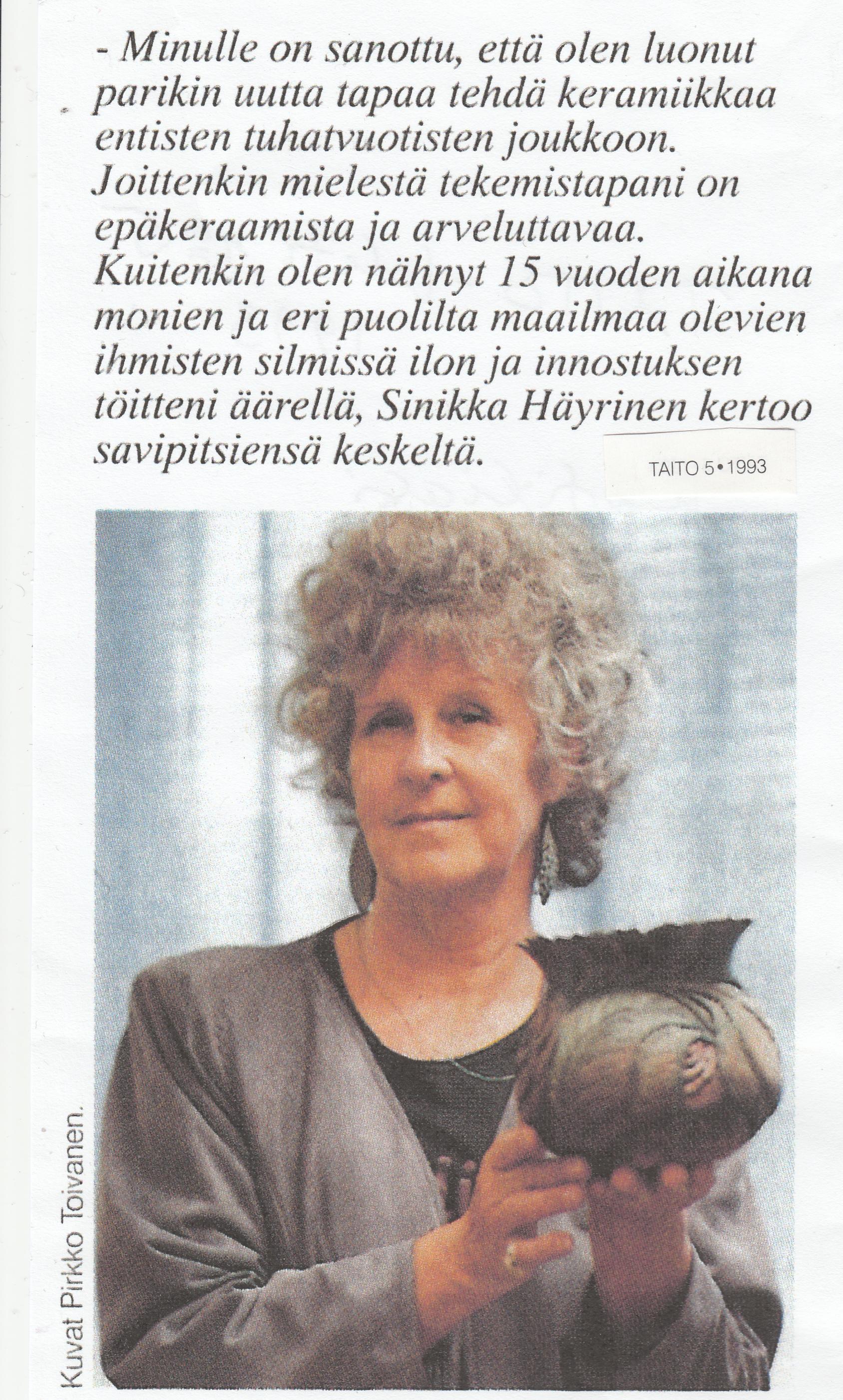 TAITO lehti 5 1993